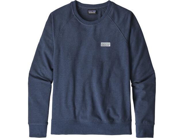 Patagonia Pastel P-6 Label Ahnya Crew Sweatshirt Dame stone blue